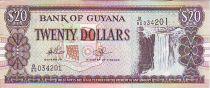 Guyana 20 Dollars Kaieteur Falls - Shipbuilding