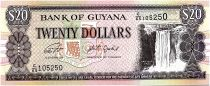 Guyana 20 Dollars Kaieteur Falls, Shipbuilding and ferry - 2019 - UNC - P.30g