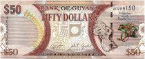 Guyana 50 Dollars Carte du Guyana - 50 ans Indépendance - 2016 - Neuf - P.41