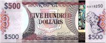 Guyana 500 Dollars Carte de Guyane - Batiments de Georgetown - 2019 - Neuf - P.38b