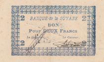 Guyane Française 2 Francs Bleu Type 1945 - N° 087463