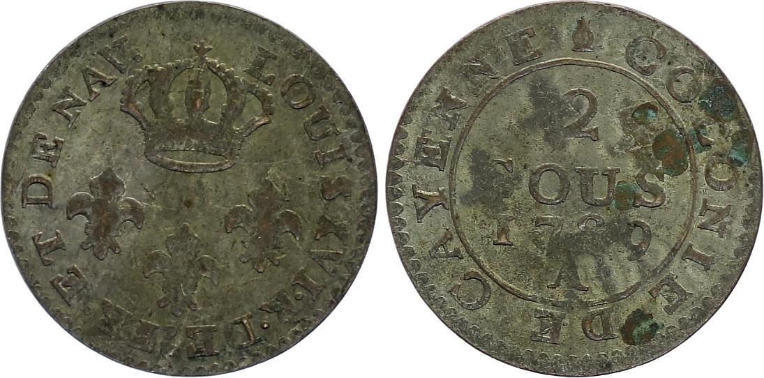 Guyane Française 2 Sous Cayenne - Colonies - 1789
