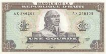 Haïti 1 Gourde - Toussaint L\'Ouverture - Armoiries - 1987