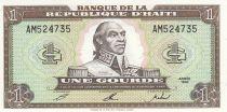Haiti 1 Gourde - Toussaint L\'Ouverture - Arms - 1992