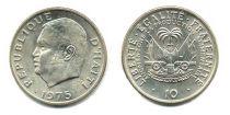Haiti 10 Cents - J.C. Duvalier - 1975
