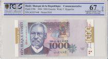 Haiti 1000 Gourdes Florvyl Hyppolite - Market - 2004 - PCGS  67 OPQ