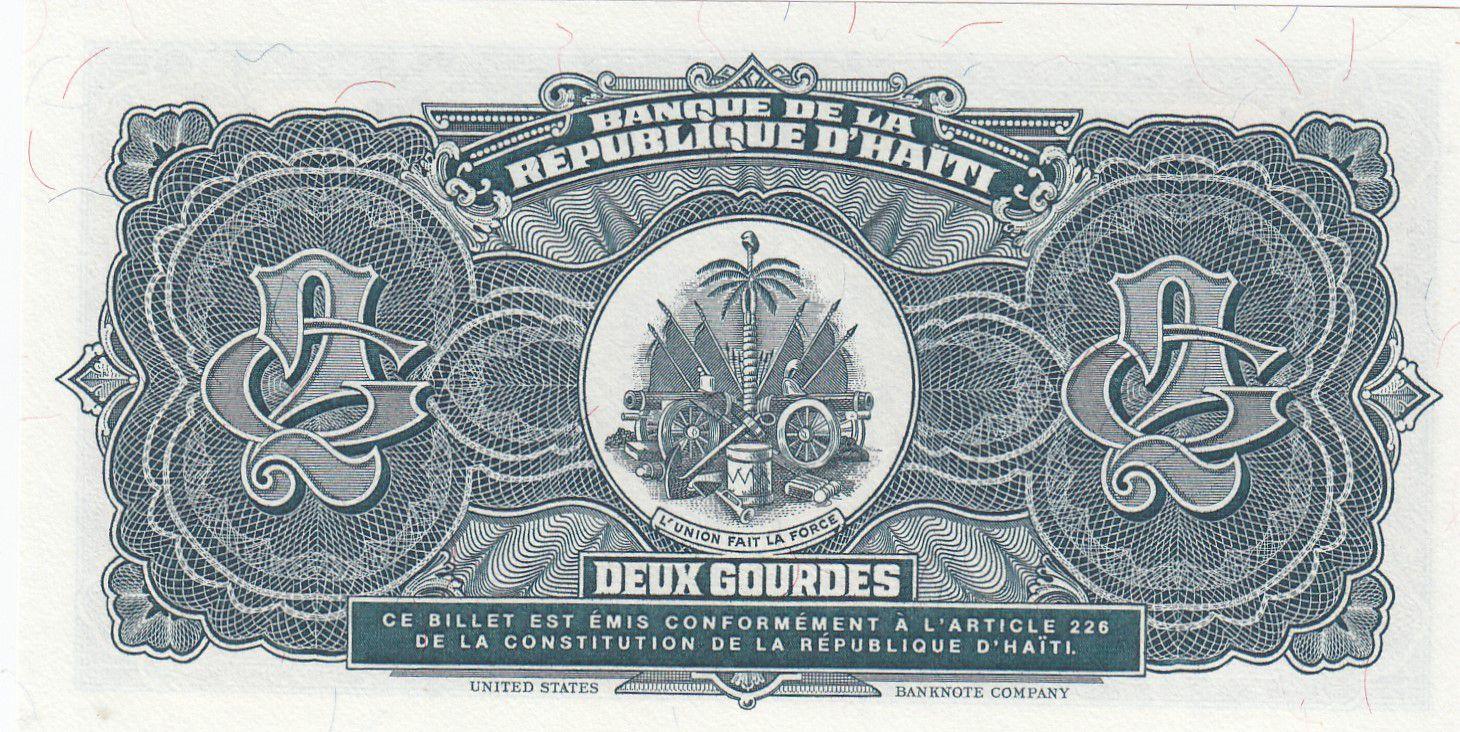 Haïti 2 Gourdes - Citadelle - Armoiries - 1990 - P.254a - Neuf