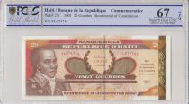 Haiti 20 Gourdes - Bicentennial of the 1801 Constitution - 2001 - PCGS 67 OPQ
