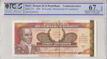 Haití 20 Gourdes - Bicentennial of the 1801 Constitution - 2001 - PCGS 67 OPQ