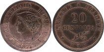 Haiti 5 Centimes - J.C. Duvalier - 1975