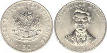 Haiti 50 Cents - Charlemagne Massena Perlalte - 1991