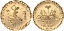Haiti 50 Gourdes 1970 - Gold - KM.68 - XF