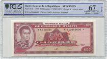 Haïti 500 Gourdes -  Alexandre Pétion - Spécimen - 1993 - PCGS 67 OPQ