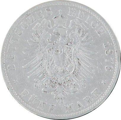 Hamburg 5 Mark Eagle - Arms and lions