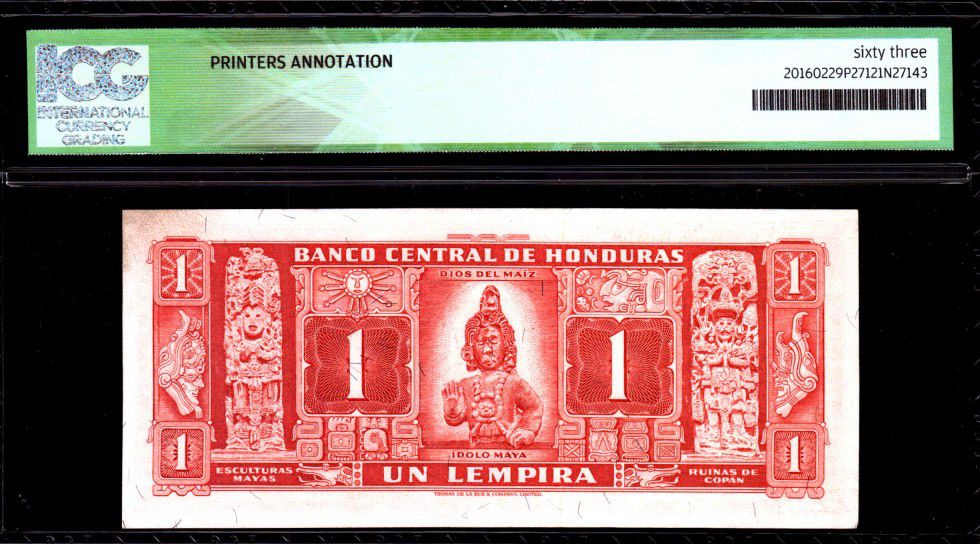 Honduras 1 Lempira Lempira - Idole Maya - 1965 - ICG UNC63