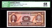Honduras 10 Lempira Cabanas - Central bank bdlg - 1970 - ICG UNC68