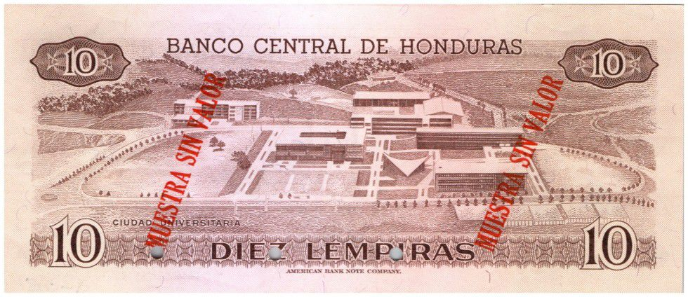 Honduras 10 Lempiras Cabanas - Cité universitaire