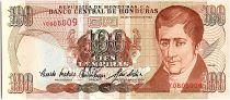 Honduras 100 Lempiras, J.C. Del Valle - Ecole - 02/1993