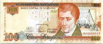 Honduras 100 Lempiras, J.C. Del Valle - National house - 2008