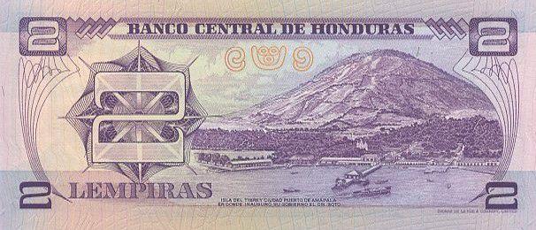 Honduras 2 Lempiras M.A. Soto - 100 ans Gouv. de M.A. Soto