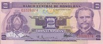 Honduras 2 Lempiras M.A. Soto - 100 years of Soto´s government