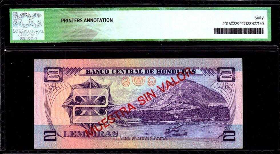 Honduras 2 Lempiras M.A. Soto - Port d\' Amapala - 1976 - ICG AU/UNC60