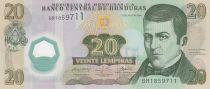 Honduras 20 Lempiras, Dionisio De Herrera - 2008 - Polymer - UNC - P.95