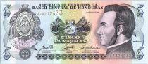 Honduras 5 Lempiras Morazan - Battle of Trinidad  - 2006
