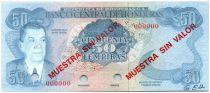 Honduras 50 Lempiras Juan Manuel Galvez - Banque Centrale