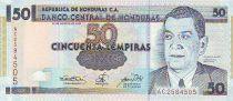 Honduras 50 Lempiras Juan Manuel Galvez