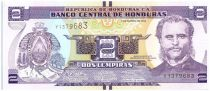 Honduras P.97 2 Lempiras, Marco Aurelio Soto - Ile du Tigre 2012