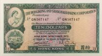Hong-Kong 10 Dollars 1972 - NEUF