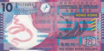 Hong Kong 10 Dollars Geometric patterns - Polymer -  2012 - UNC