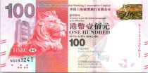 Hong Kong 100 Dollars Head of Lion - Etablishment day - 2016 (2017)
