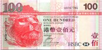 Hong Kong 100 Dollars Head of lion, Bridge of Tsing-Ma - 2009