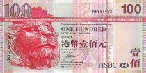 Hong Kong 100 Dollars Head of lion, Bridge of Tsing-Ma