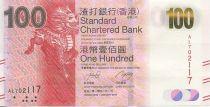 Hong-Kong 100 Dollars Licorne - Circuit imprimé et tablette sung