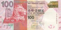 Hong-Kong 100 Dollars Tête de lion - Jour de l\'Etablissement