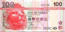 Hong-Kong 100 Dollars Tête de lion - Pont Tsing-Ma - 2009