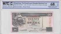 Hong-Kong 20 Dollars,  Banque de Hongkong et Shanghai - 2002 - PCGS 68 OPQ