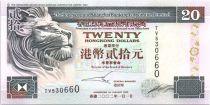 Hong-Kong 20 Dollars,  Banque de Hongkong et Shanghai - 2002
