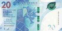 Hong Kong 20 Dollars, Bank of China - 2018 (2020) - UNC - Serial BX