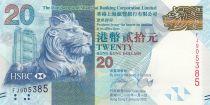 Hong Kong 20 Dollars, Head of Lion - HSBC - Mid-Autumn Festival - 2012 - UNC - P .212