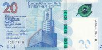 Hong Kong 20 Dollars, Standard Chartered Bank - 2018 (2020) - UNC