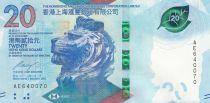 Hong-Kong 20 Dollars, Tête de lion - HSBC - 2018 (2020) - Neuf - Série BX
