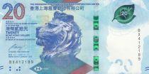 Hong-Kong 20 Dollars, Tête de lion - HSBC - 2018 (2020) - Neuf