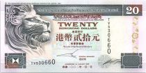 Hong Kong 20 Dollars, The Hongkong and Shanghai Banking Corporation Limited - 2002