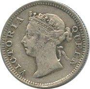 Hong-Kong 5 Cents Victoria - Millésimes variés (1898-1901)