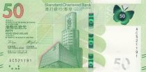 Hong Kong 50 Dollars, Standard Chartered Bank - Butterfly - 2018 (2020) - UNC