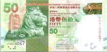 Hong-Kong 50 Dollars, Tête de lion - Festival des lanternes - 2016 ( 2017)